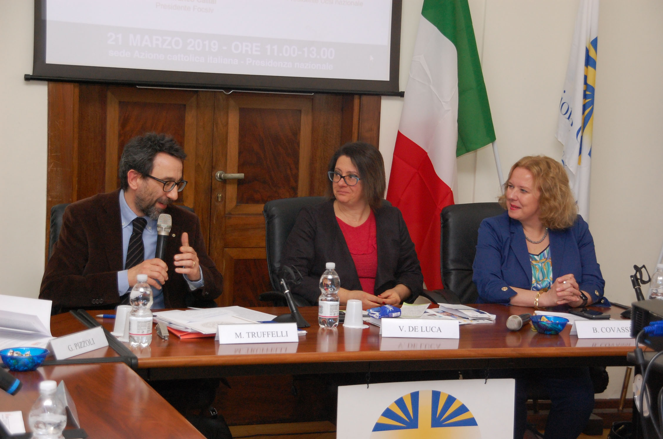 Matteo Truffelli, Vania De Luca, Beatrice Covassi