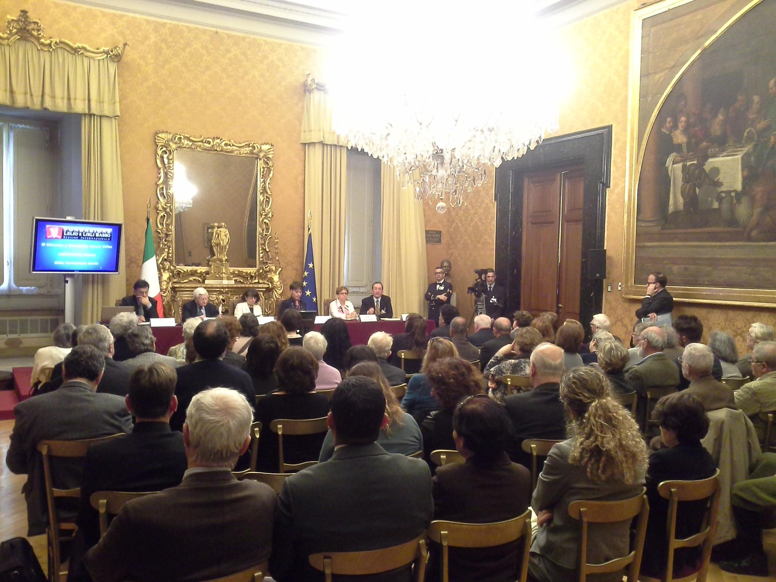 La platea dei presenti nella Sala Aldo Moro