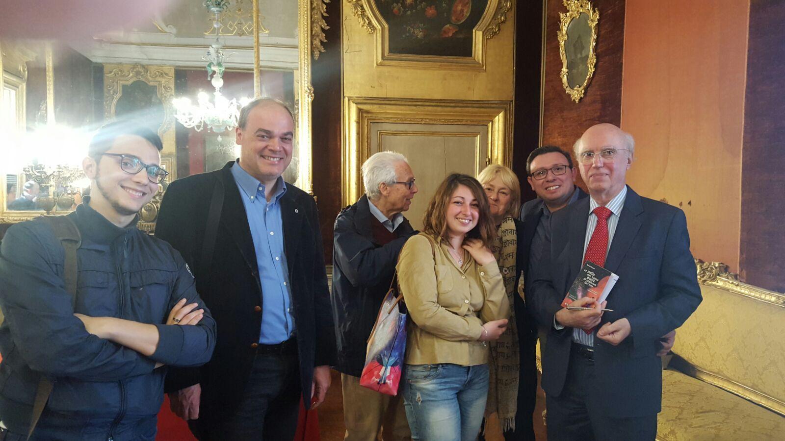 Sandro Calvani con gli organizzatori dell'evento di Palermo
