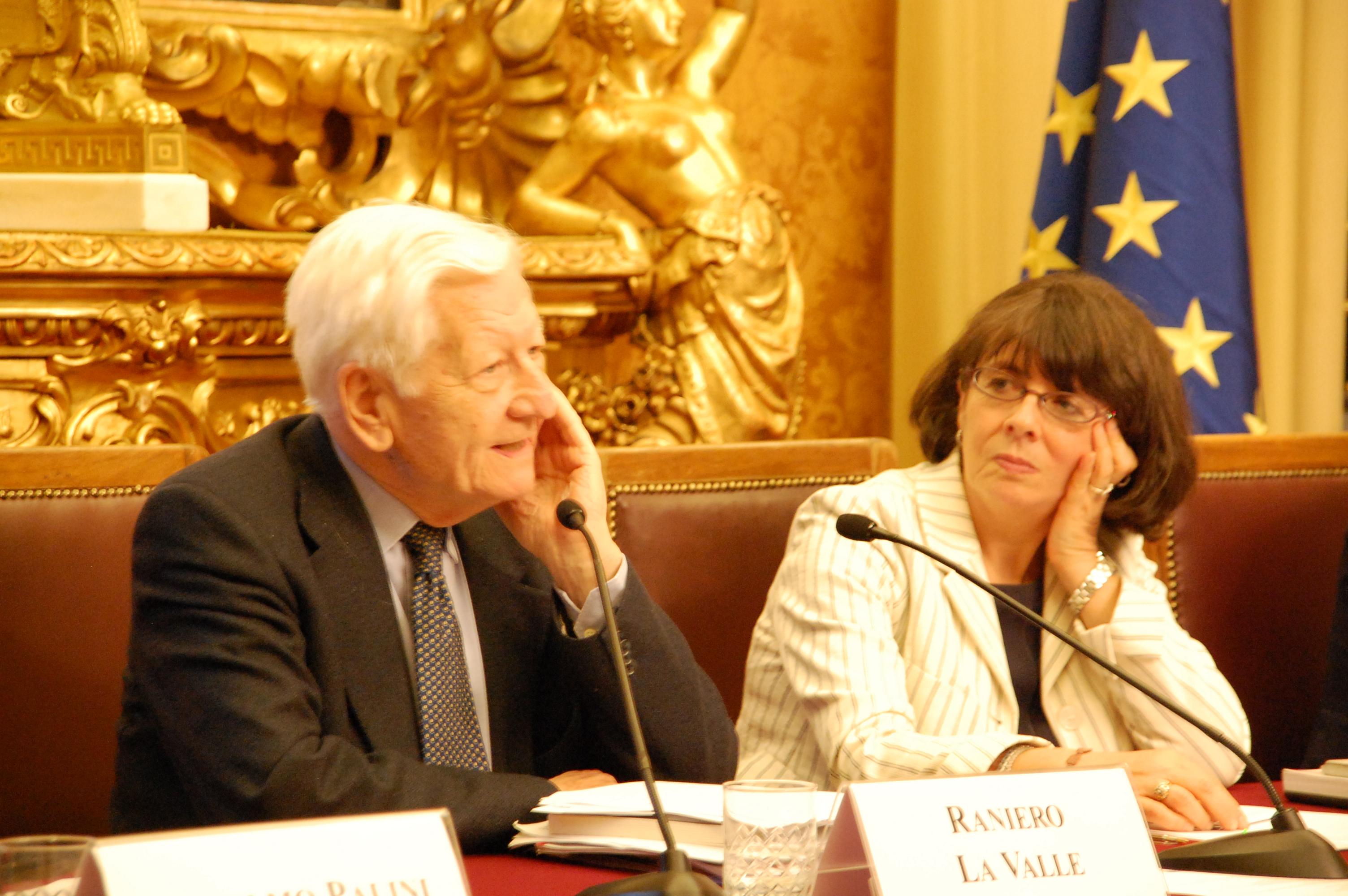 Il Professor Raniero La Valle e l'onorevole Marina Sereni
