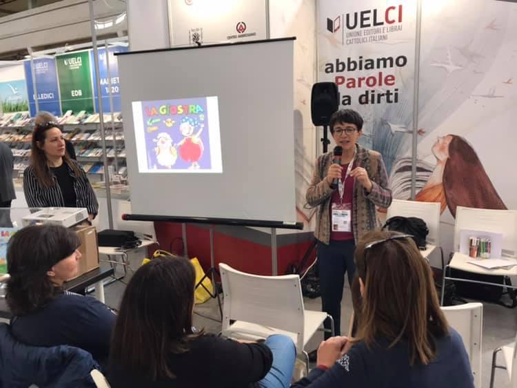 Anna Peiretti alla presentazione della rivista La Giostra