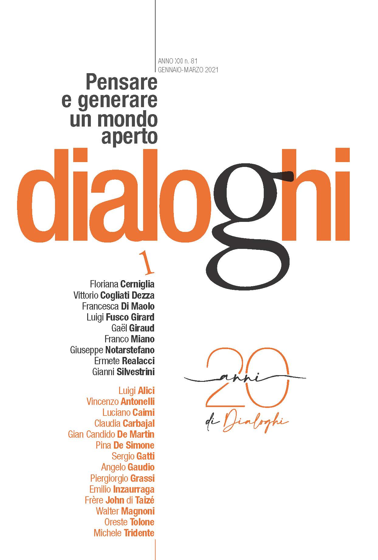 copertina Dialoghi 1 2021