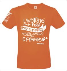 maglietta arancione chiaro