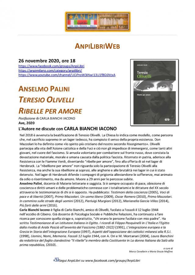 locandina presentazione Olivelli