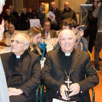 Mons. Galantino in platea