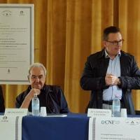 da sinistra Andrea Pellegrini Ordine Avvocati di Gorizia, Bruno Pizzul, Domenico Facchini e Corrado la Grasta